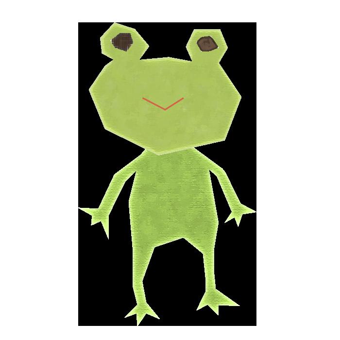 カエルのコラージュ風イラスト 無料 イラストk