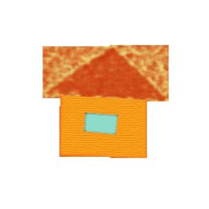 家のコラージュ風イラスト
