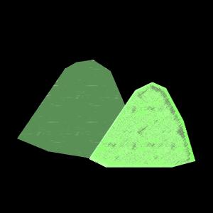 山のコラージュ風イラスト