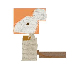 ネズミのコラージュ風イラスト
