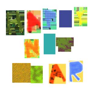 HAPPY NEW YEARのコラージュ風文字イラスト
