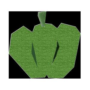 かぼちゃ(緑)のコラージュ風イラスト