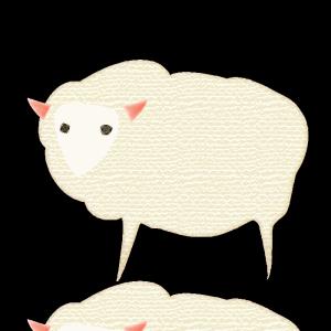 羊のコラージュ風イラスト02