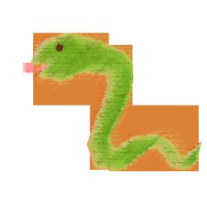 蛇のコラージュ風イラスト