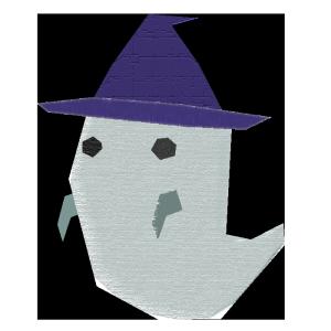 おばけ(帽子)のコラージュ風イラスト