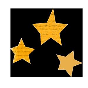 星のコラージュ風イラスト