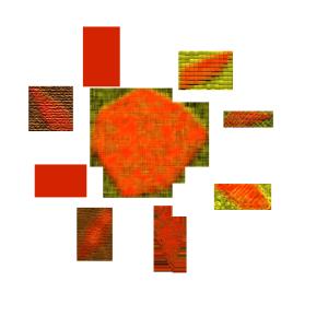 太陽のコラージュ風イラスト