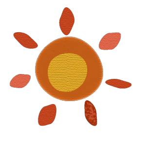太陽のコラージュ風イラスト02