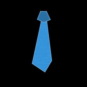 ネクタイ(青)のコラージュ風イラスト