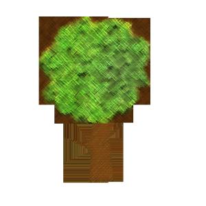 木のコラージュ風イラスト02