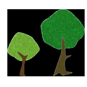 木のコラージュ風イラスト03