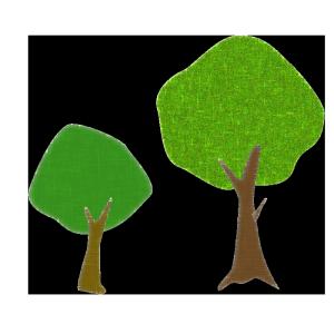 木のコラージュ風イラスト04