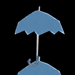 傘(青)のコラージュ風イラスト