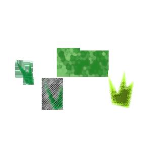 草のコラージュ風イラスト