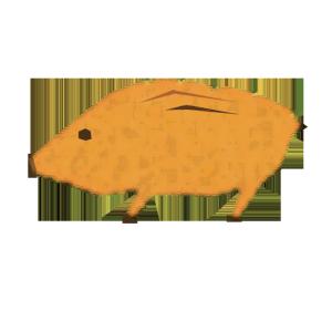 猪のコラージュ風イラスト
