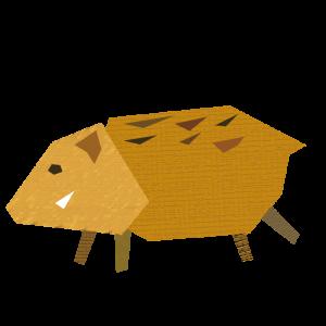 猪のコラージュ風イラスト02