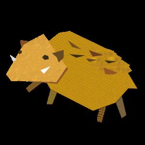 猪のコラージュ風イラスト03