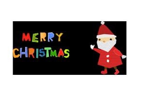 クリスマスカード-コラージュ風テンプレート(サンタクロース)