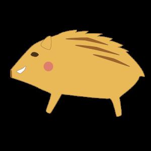 猪のかわいいイラスト