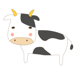 牛のかわいいイラスト02