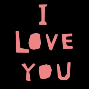 I LOVE YOUのかわいい文字イラスト