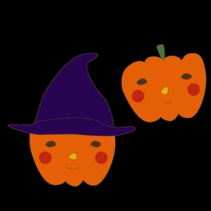 おばけかぼちゃのかわいいイラスト