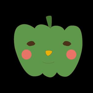 かぼちゃ(緑)のかわいいイラスト