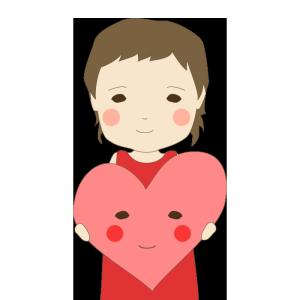 バレンタイン(女の子)のかわいいイラスト
