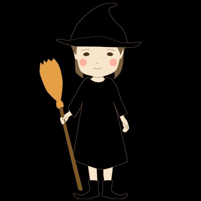 魔女のかわいいイラスト 無料 イラストk