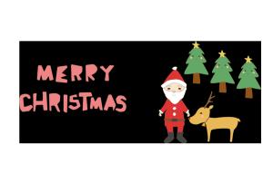 クリスマスカード-かわいいテンプレート