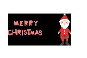 クリスマスカード-かわいいテンプレート(サンタクロース)