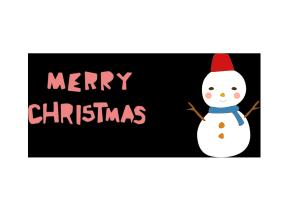 クリスマスカード-かわいいテンプレート(雪だるま)