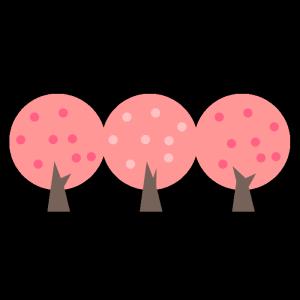 桜の木のシンプルイラスト