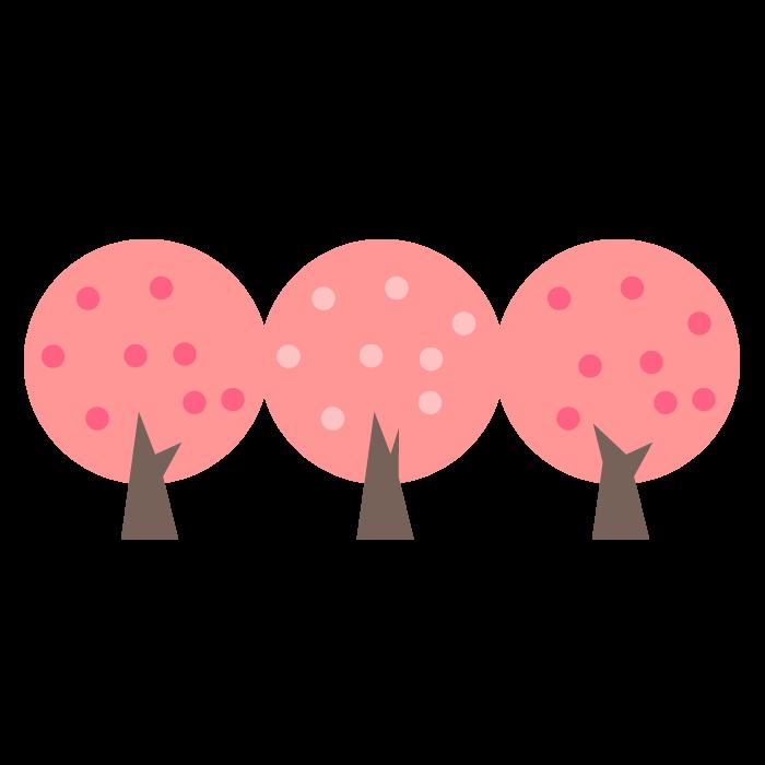桜の木のシンプルイラスト 無料 イラストk