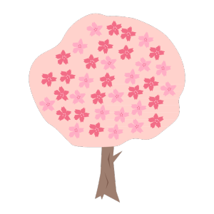 桜の木のデザインイラスト