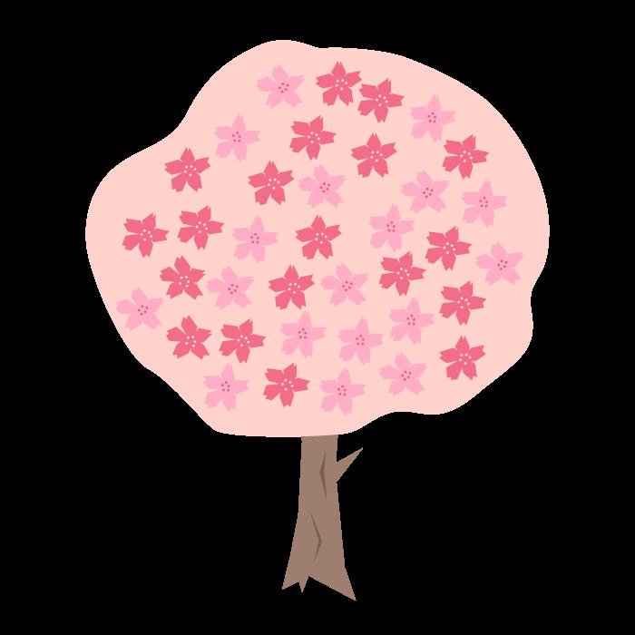 桜の木のデザインイラスト 無料 イラストk