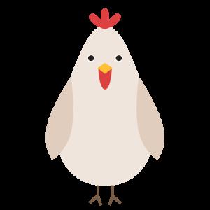 鶏のデザインイラスト