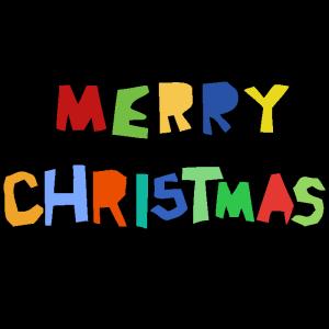 MERRY CHRISTMASのデザイン文字イラスト