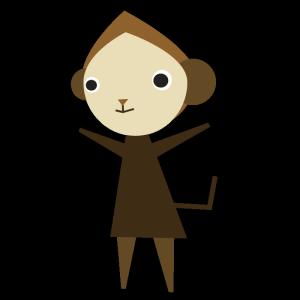 猿のデザインイラスト