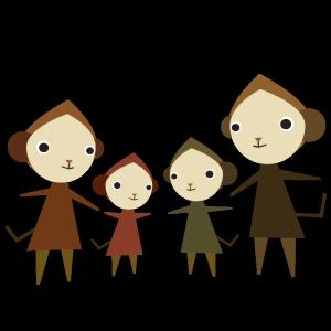 猿(家族)のデザインイラスト