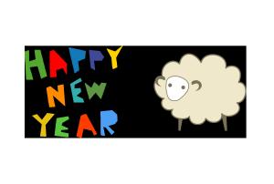 年賀状-デザインテンプレート(羊)