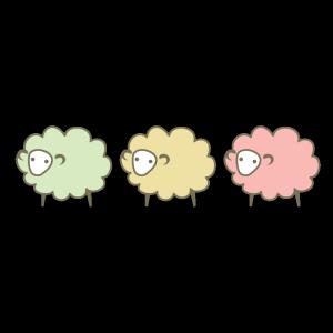 羊3匹のデザインイラスト