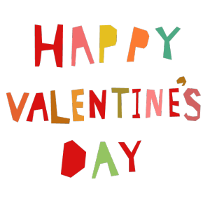 HAPPY VALENTINE'S DAYのデザイン文字イラスト