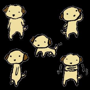 犬の手書きイラスト