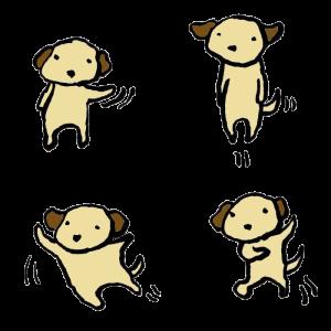 犬(動き)の手書きイラスト
