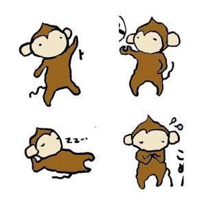 猿の手書きイラスト02