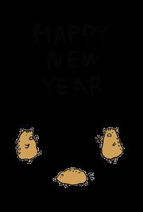 年賀状-2019年-手書きテンプレート(猪)04