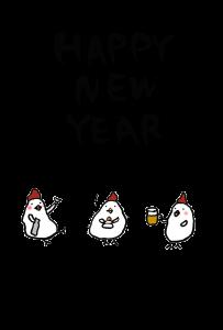 年賀状-2017年-手書きテンプレート(鶏)02