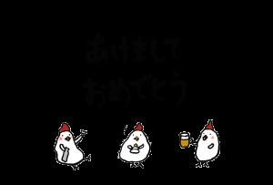 年賀状-2017年-手書きテンプレート(鶏)-和風02