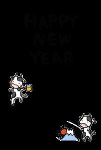 年賀状-2021年-手書きテンプレート(牛)04